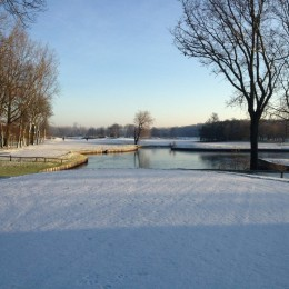 Groendael in de winter.