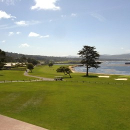Pebble Beach hole 18.